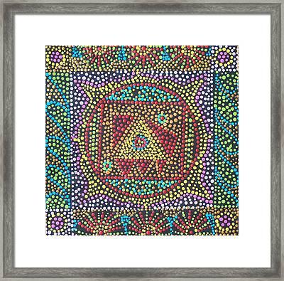 Base Chakra Framed Print by Vijay Sharon Govender