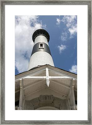Base Of Bodie Island Lighthouse Framed Print