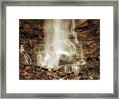 Base Of Cascade Falls Framed Print by Krista-
