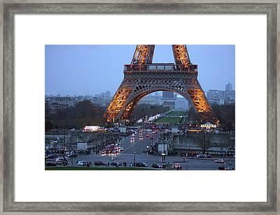 Base Of Eiffeltower Framed Print by Erik Tanghe
