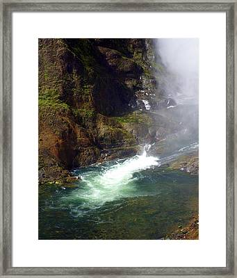 Base Of The Falls 1 Framed Print by Marty Koch