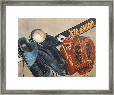 Baseball Allstar Framed Print by Teri Vaughn