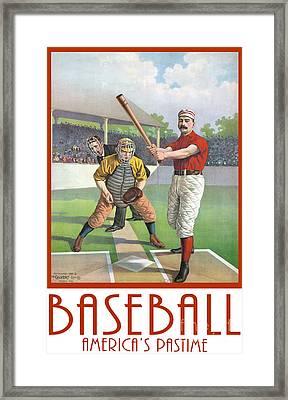 Baseball America Pastime Tee Framed Print