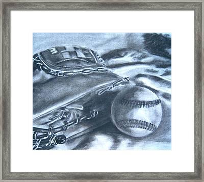 Baseball Framed Print by Ashlee Terras