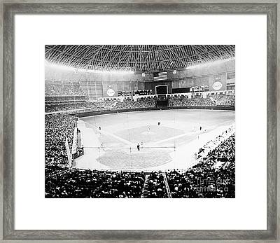 Framed Print featuring the photograph Baseball: Astrodome, 1965 by Granger