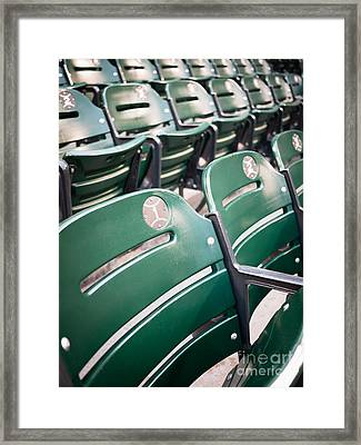 Baseball Ballpark Seats Photo Framed Print