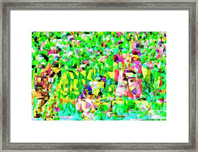 Baseball Batter Sluuger In Abstract Cubism 20170329 Framed Print by Wingsdomain Art and Photography