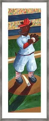 Baseball Bear Framed Print