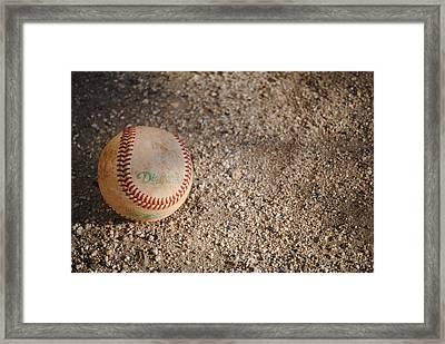 Baseball Framed Print by Bransen Devey
