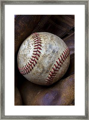 Baseball Close Up Framed Print