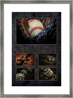 Baseball Collage I Framed Print