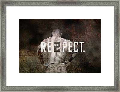 Baseball - Derek Jeter Framed Print by Joann Vitali