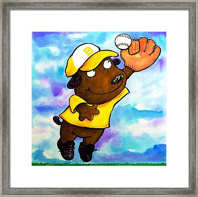 Baseball Dog 4 Framed Print