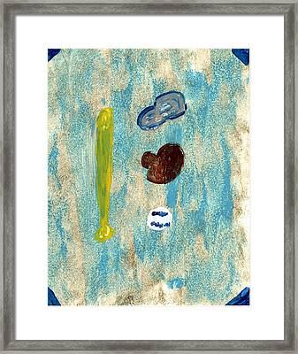 Baseball Dreams Framed Print by Rosemary Mazzulla