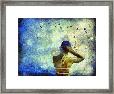 Framed Print featuring the photograph Baseball Fan by Claire Bull