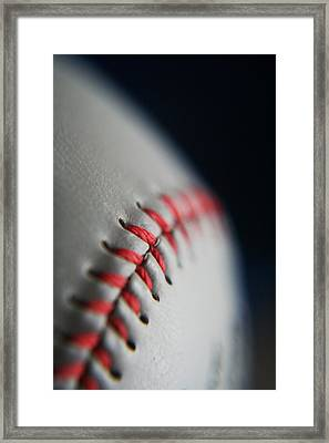 Baseball Fan Framed Print by Rachelle Johnston