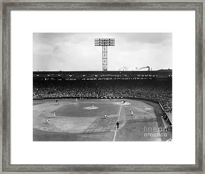 Baseball: Fenway Park, 1956 Framed Print