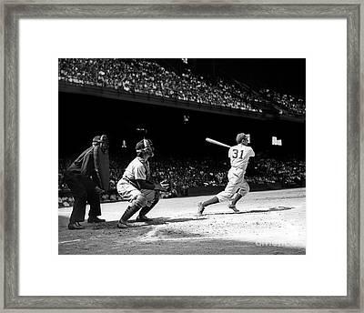 Baseball Game, Shibe Park Framed Print