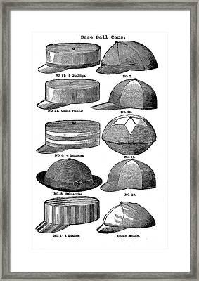 Baseball Hats  Framed Print