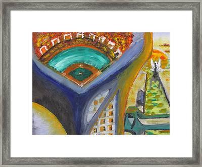 Baseball Heaven Framed Print by Keith Cichlar