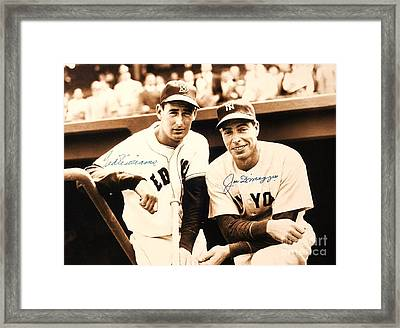 Baseball Heroes Framed Print by Roberto Prusso