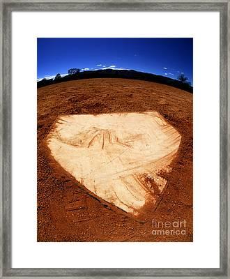 Baseball Home Plate Dark Dirt Framed Print