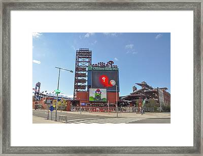 Baseball In Philadelphia - Citizens Bank Park Framed Print by Bill Cannon