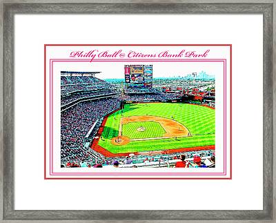 Baseball In Philly Framed Print