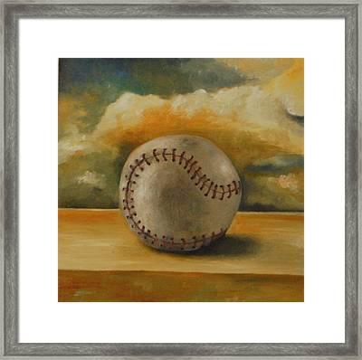 Baseball Framed Print by Leah Saulnier The Painting Maniac
