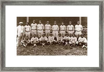Baseball: Negro Leagues Framed Print