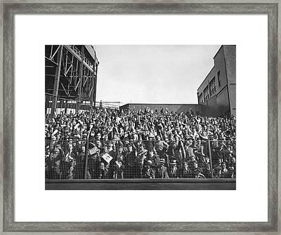 Baseball Opening Day Fans Framed Print