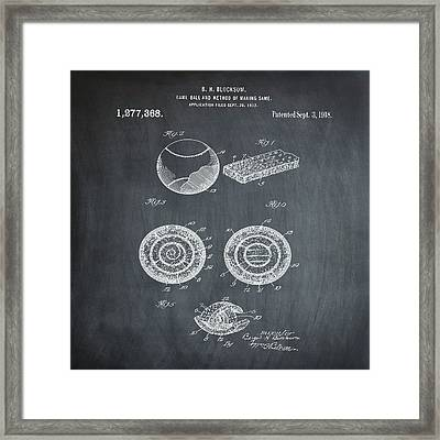 Baseball Patent 1918 In Chalk Framed Print by Bill Cannon