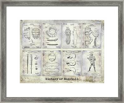 Baseball Patent History Framed Print by Jon Neidert