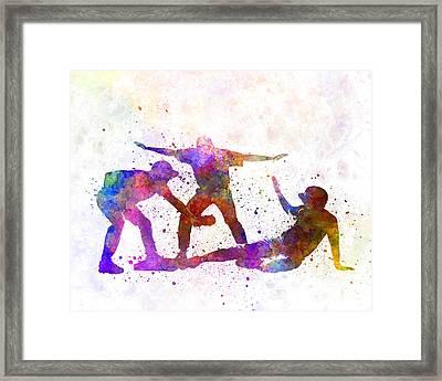 Baseball Players 03 Framed Print