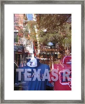 Baseball Reflection Series Framed Print