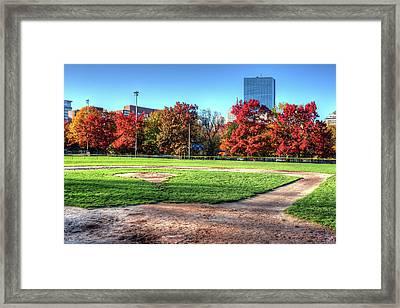 Baseball Season Is Over Boston Ma Boston Common Baseball Field Framed Print by Toby McGuire