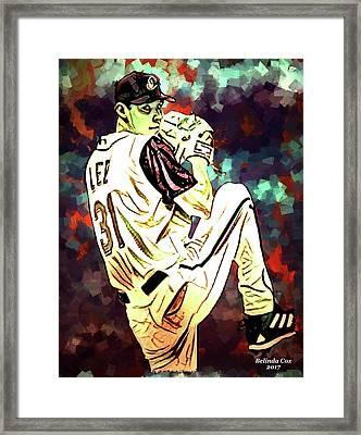 Baseball Sport Pitcher Cliff Lee Framed Print
