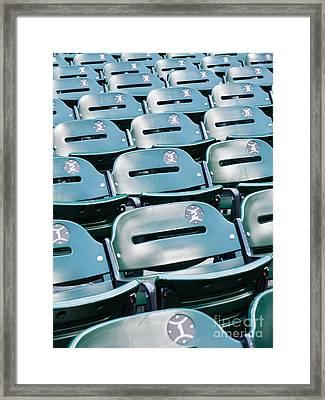 Baseball Stadium Seats Framed Print by Paul Velgos