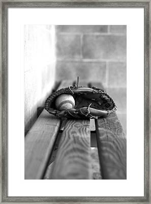Baseball Still Life Framed Print by Susan Schumann