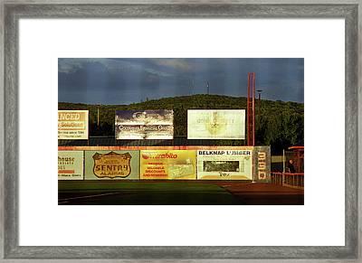 Baseball Sunset 2005 Framed Print by Frank Romeo