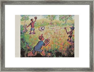 Baseball Framed Print by Suzanne  Marie Leclair