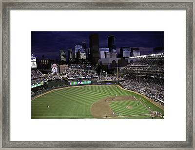 Baseball Target Field  Framed Print