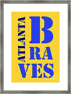 Baseball Team Atlanta Braves Framed Print by Pablo Franchi
