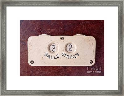 Baseball Umpire Count Keeper Framed Print