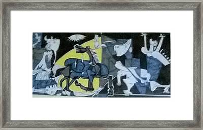 based on Picasso Art  Guernica Framed Print by Miss Ratul Banerjee