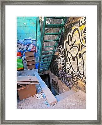 Basement Apartment In Graffiti Alley Framed Print
