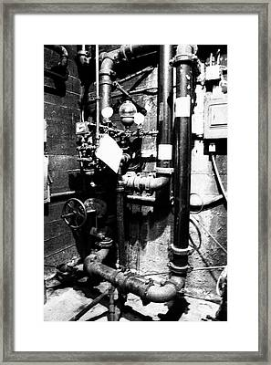Basement Pipes Framed Print