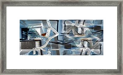 Basement Pipes Revealed Framed Print by Lorai Wilson