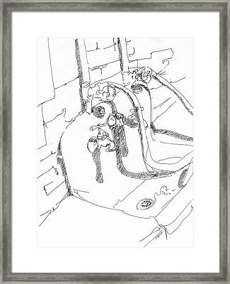 Basement Sink Framed Print by Rhonda Alexander