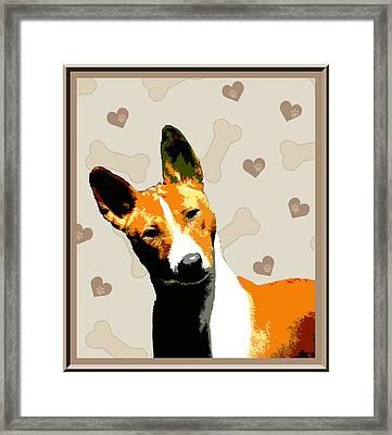 Basenji Framed Print by One Rude Dawg Orcutt